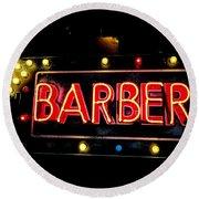 Barber This Way Round Beach Towel
