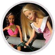 Barbie Escapes Round Beach Towel