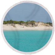 Barbuda Beach And Dunes Round Beach Towel