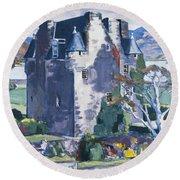 Barcaldine Castle Round Beach Towel