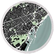 Barcelona - Gsc Round Beach Towel