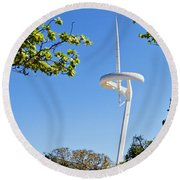 Barcelona Tv Tower/sun Dial Round Beach Towel