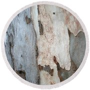 Bark Of A Eucalyptus Tree Round Beach Towel