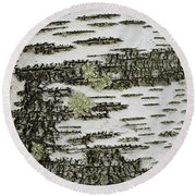 Bark Of Paper Birch Round Beach Towel