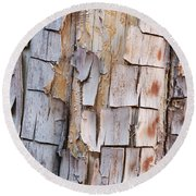 Bark On A Tree In The Desert In Sedona Round Beach Towel