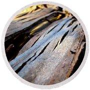 Bark Texture Round Beach Towel