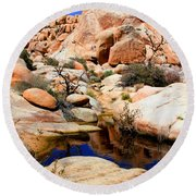 Barker Dam Big Horn Dam By Diana Sainz Round Beach Towel