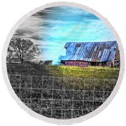 Barn 23 - Featured In Comfortable Art  And Artists Of Western Ny Groups Round Beach Towel