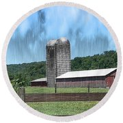 Barn 28 - Featured In Old Buildings And Ruins Group Round Beach Towel