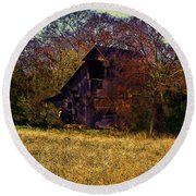 Barn And Diamond Reo-featured In Barns Big And Small Group Round Beach Towel