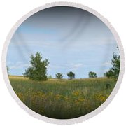 Barn At Trailsend 2 Round Beach Towel