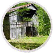 Barn From The Forgotten Farm 3 Round Beach Towel