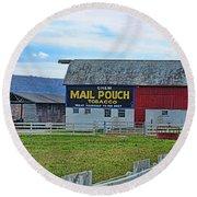 Barn - Mail Pouch Tobacco Round Beach Towel