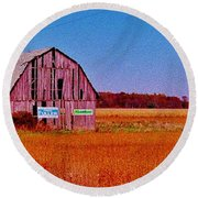 Barn Van Dyke Round Beach Towel