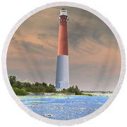 Barnegat Abstract Round Beach Towel