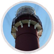 Barnegat Light - Lighthouse Top Round Beach Towel