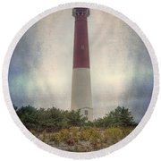 Barnegat Lighthouse Dawn Round Beach Towel