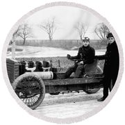Barney Oldfield And Henry Ford Round Beach Towel