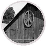 Barns For Peace Round Beach Towel