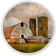 Barns In The Country Round Beach Towel