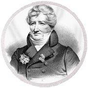 Baron Georges Cuvier (1769-1832) Round Beach Towel