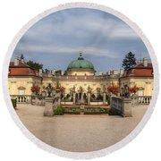 Baroque Landmark - Buchlovice Castle Round Beach Towel