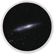 Barred Spiral Galaxy Ngc 55 Round Beach Towel
