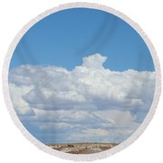 Barren Horizon Round Beach Towel