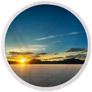 Barren Valley Round Beach Towel