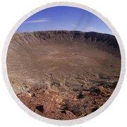 Barringer Crater, Fisheye View Round Beach Towel
