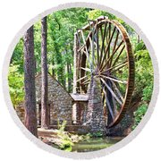 Berry College's Old Mill - Square Round Beach Towel