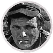 Barry Sadler The Green Berets Homage 1968 Tucson Arizona 1971-2008 Round Beach Towel
