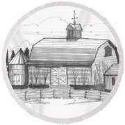 Barrytown Barn Round Beach Towel