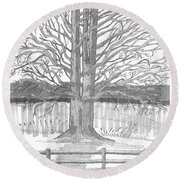 Barrytown Tree Round Beach Towel