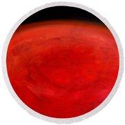 Barsoom Mars The Red Planet Round Beach Towel