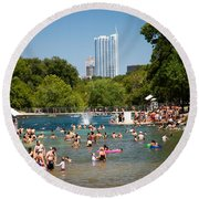 Barton Springs Pool Round Beach Towel
