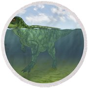 Baryonyx Swimming Amongst Some Round Beach Towel