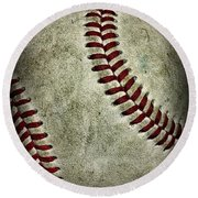 Baseball - A Retired Ball Round Beach Towel