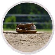 Baseball - America's Game Round Beach Towel