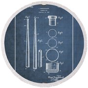 Baseball Bat By Lloyd Middlekauff - Vintage Patent Blueprint Round Beach Towel