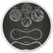Baseball Construction Patent - Gray Round Beach Towel