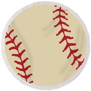 Baseball Round Beach Towel
