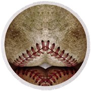Baseball Eros Round Beach Towel