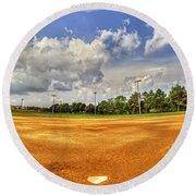 Baseball Field Round Beach Towel