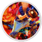 Baseball II Round Beach Towel
