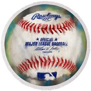 Baseball Iv Round Beach Towel