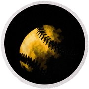Baseball The American Pastime Round Beach Towel