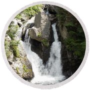Bash Bish Falls 1 Round Beach Towel