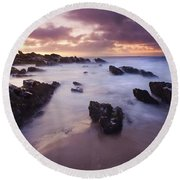 Basham Twilight Round Beach Towel