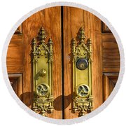Basilica Door Knobs Round Beach Towel